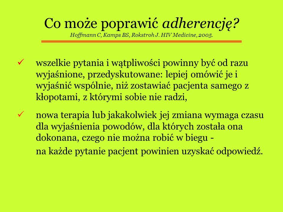 Co może poprawić adherencję. Hoffmann C, Kamps BS, Rokstroh J