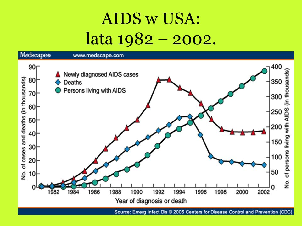 AIDS w USA: lata 1982 – 2002.