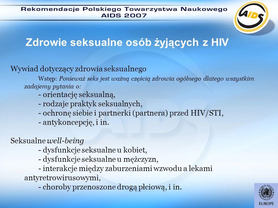 Zdrowie seksualne osób żyjących z HIV