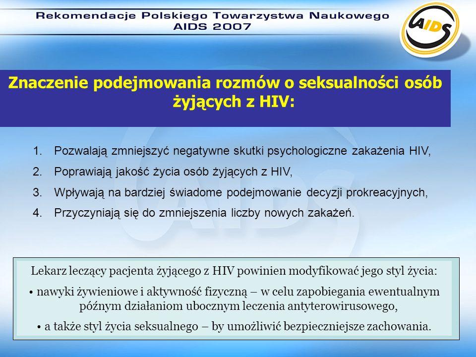 Znaczenie podejmowania rozmów o seksualności osób żyjących z HIV: