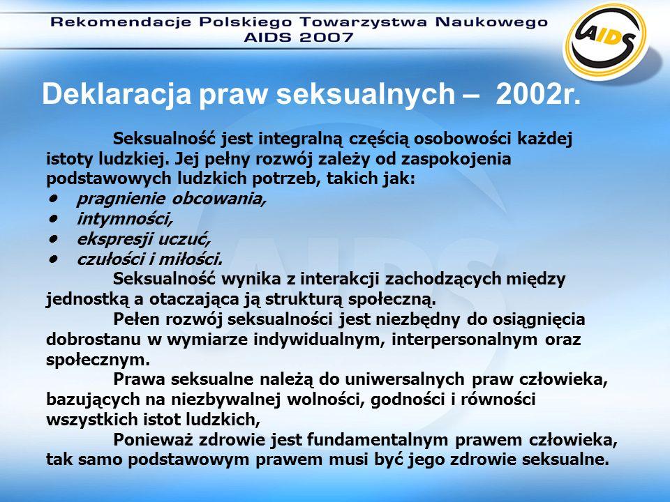 Deklaracja praw seksualnych – 2002r.