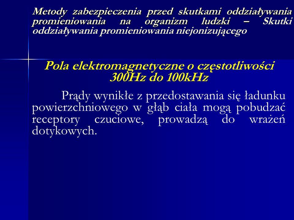Pola elektromagnetyczne o częstotliwości 300Hz do 100kHz