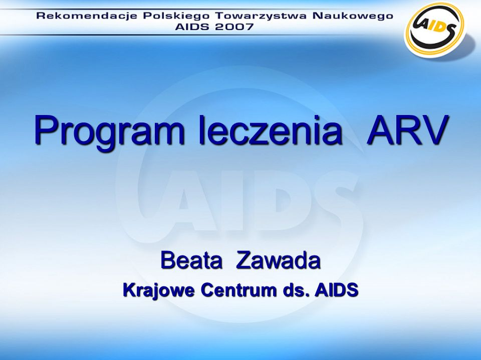 Beata Zawada Krajowe Centrum ds. AIDS