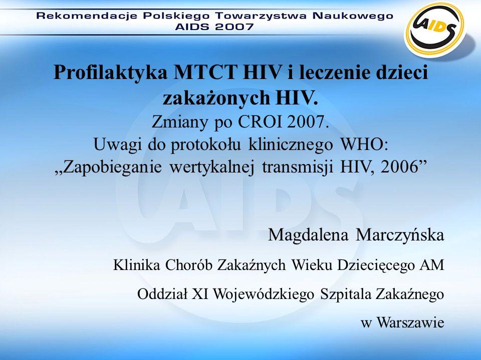 """""""Zapobieganie wertykalnej transmisji HIV, 2006"""