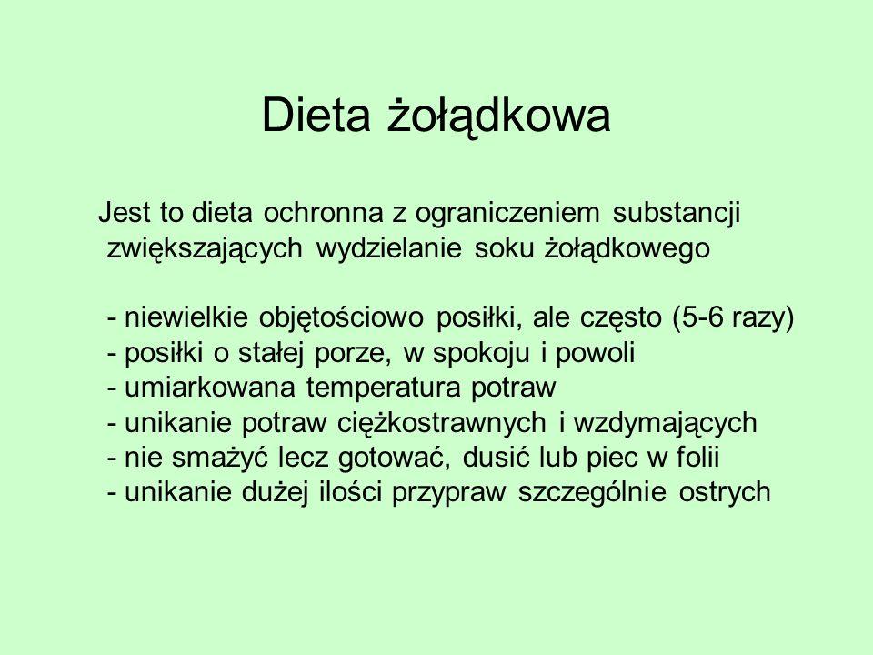 Dieta żołądkowa