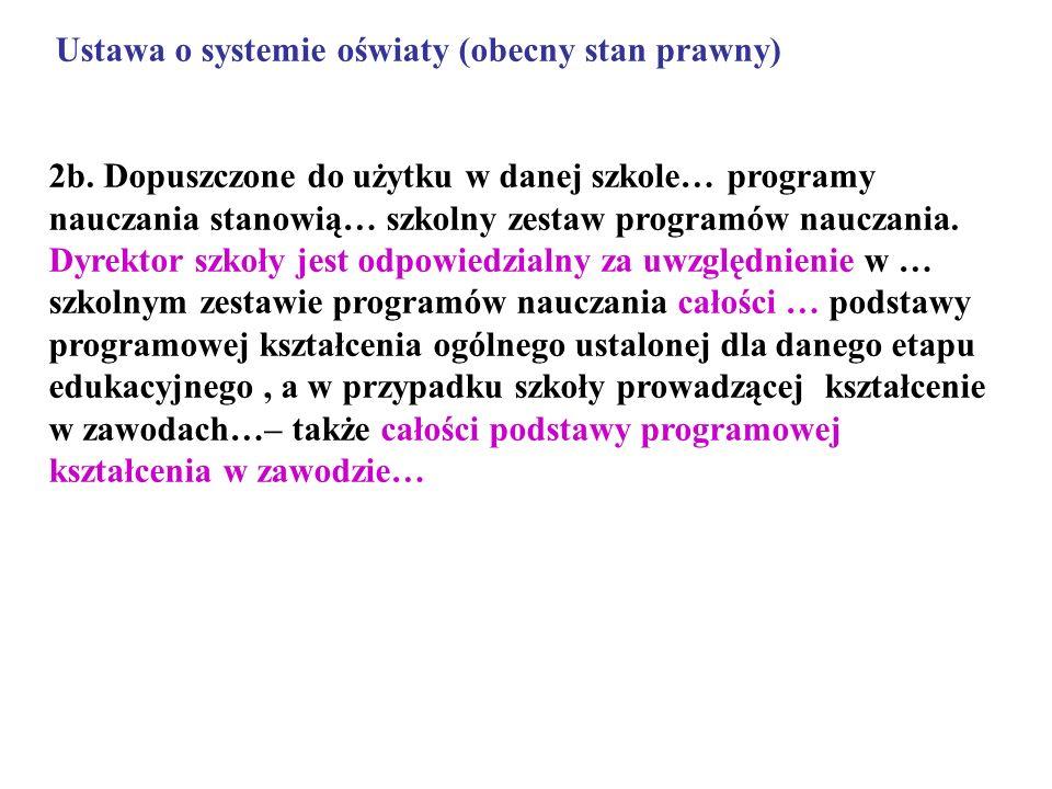 Ustawa o systemie oświaty (obecny stan prawny)
