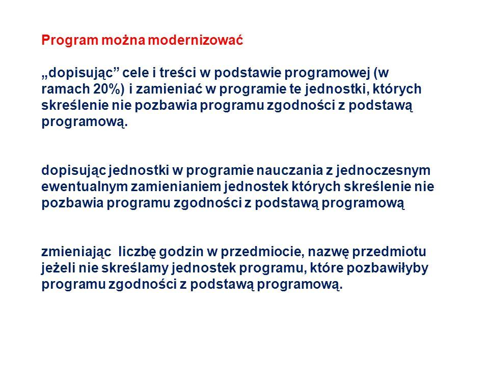Program można modernizować