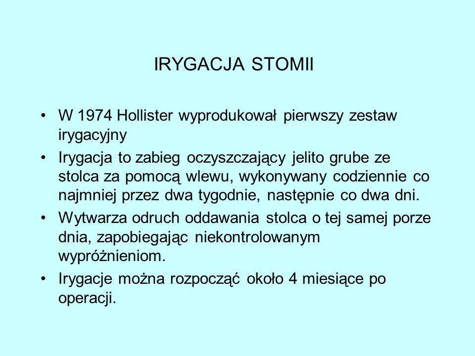 IRYGACJA STOMII W 1974 Hollister wyprodukował pierwszy zestaw irygacyjny.