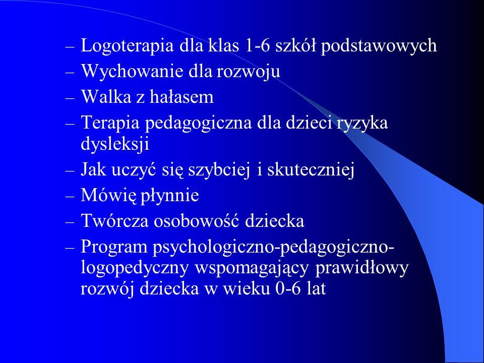Logoterapia dla klas 1-6 szkół podstawowych