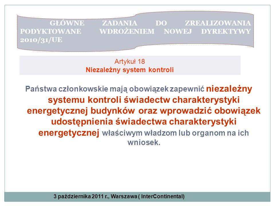 Artykuł 18 Niezależny system kontroli