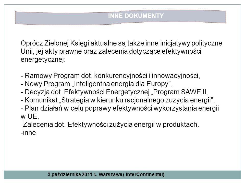 - Ramowy Program dot. konkurencyjności i innowacyjności,