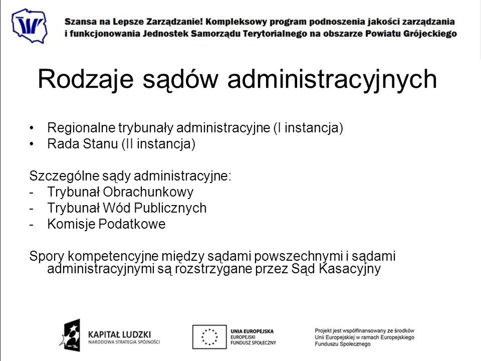 Rodzaje sądów administracyjnych