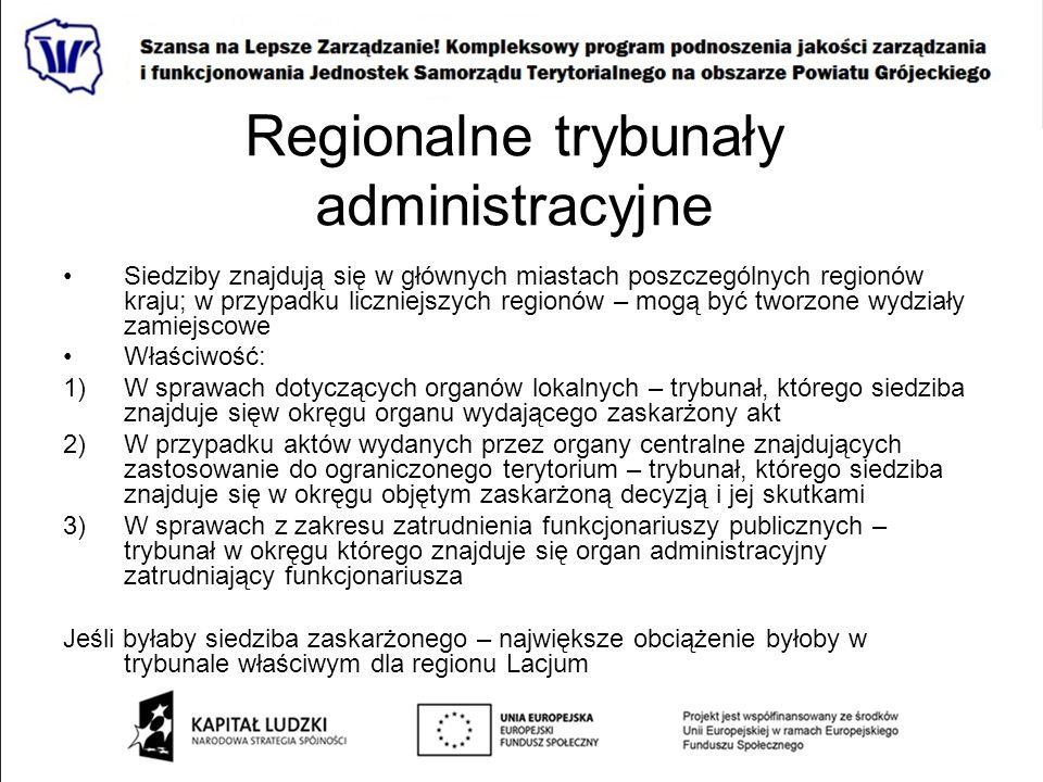 Regionalne trybunały administracyjne