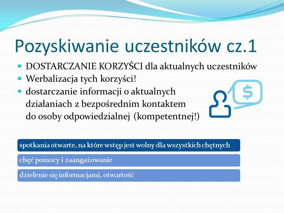 Pozyskiwanie uczestników cz.1