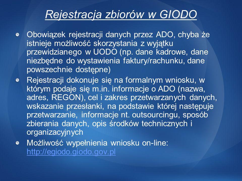 Rejestracja zbiorów w GIODO