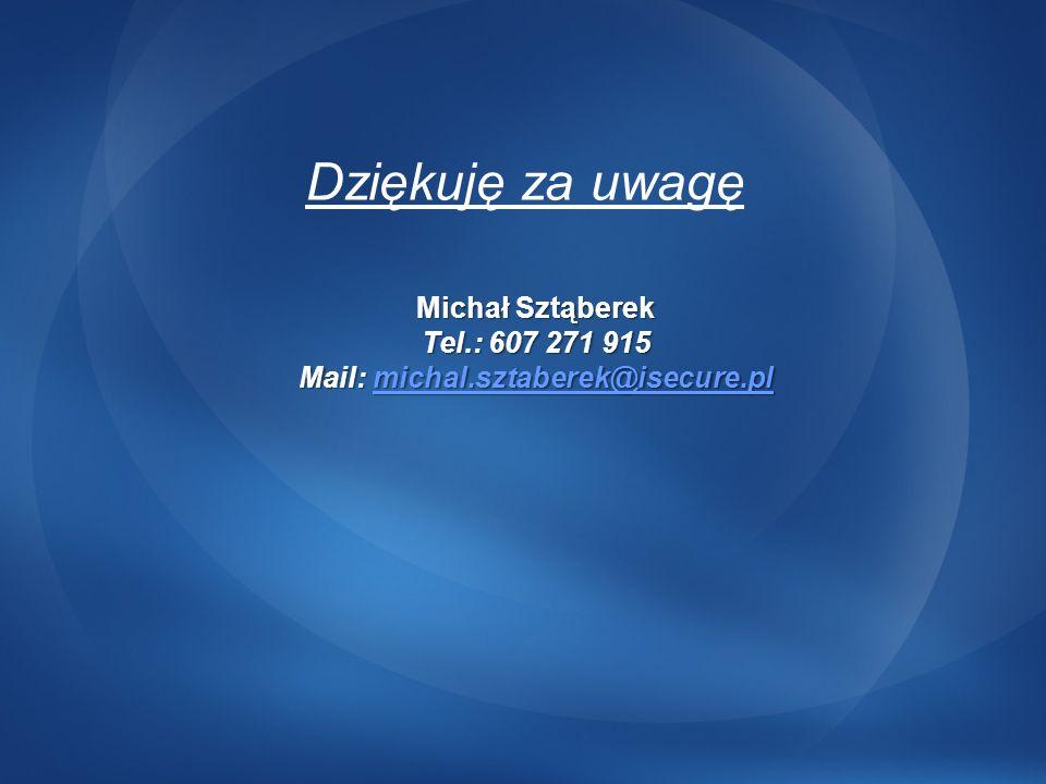 Mail: michal.sztaberek@isecure.pl