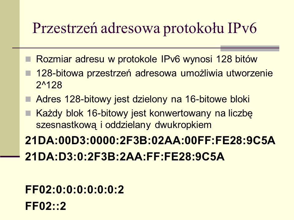 Przestrzeń adresowa protokołu IPv6