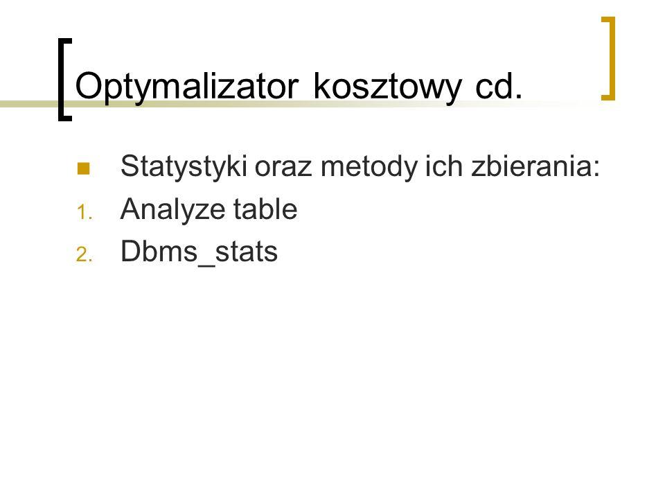 Optymalizator kosztowy cd.