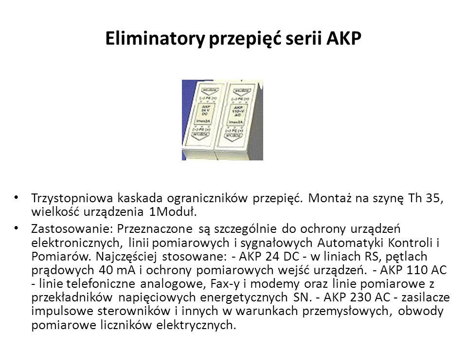 Eliminatory przepięć serii AKP