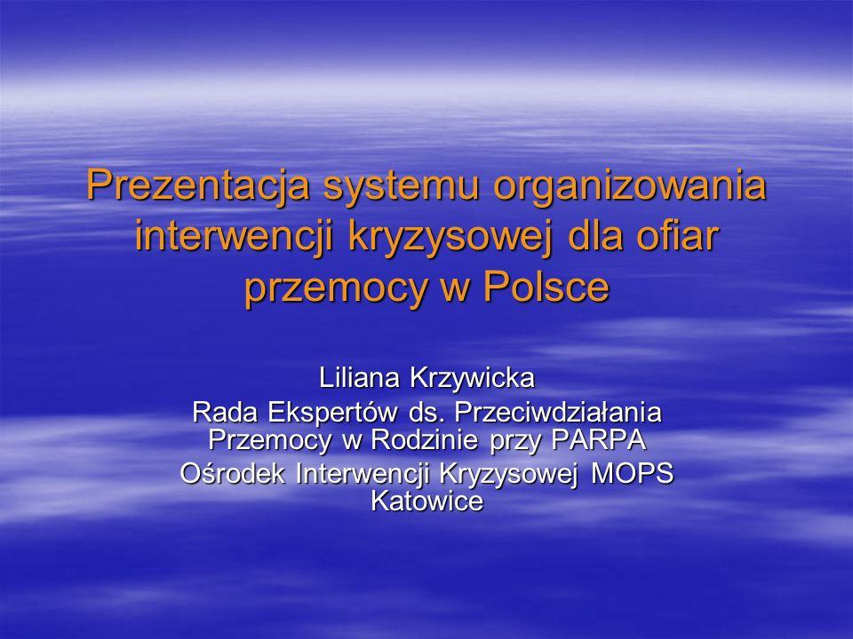 Prezentacja systemu organizowania interwencji kryzysowej dla ofiar przemocy w Polsce