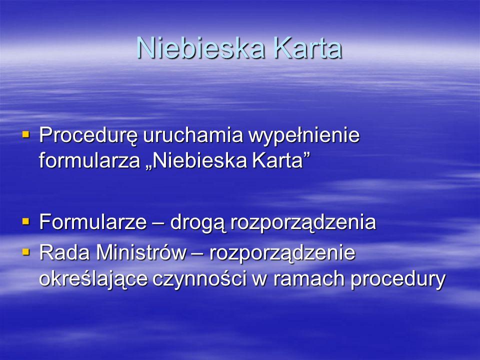 "Niebieska Karta Procedurę uruchamia wypełnienie formularza ""Niebieska Karta Formularze – drogą rozporządzenia."