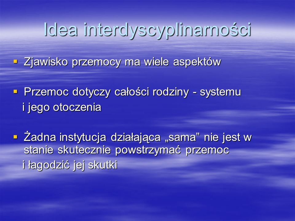 Idea interdyscyplinarności
