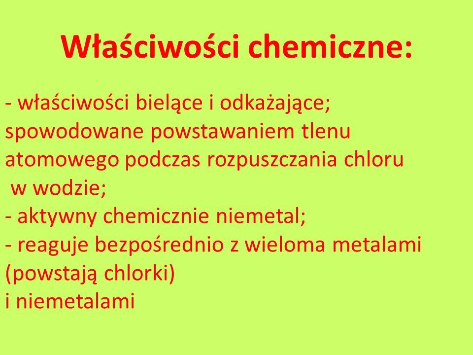 Właściwości chemiczne: