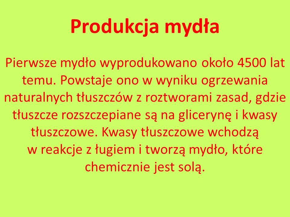 Produkcja mydła