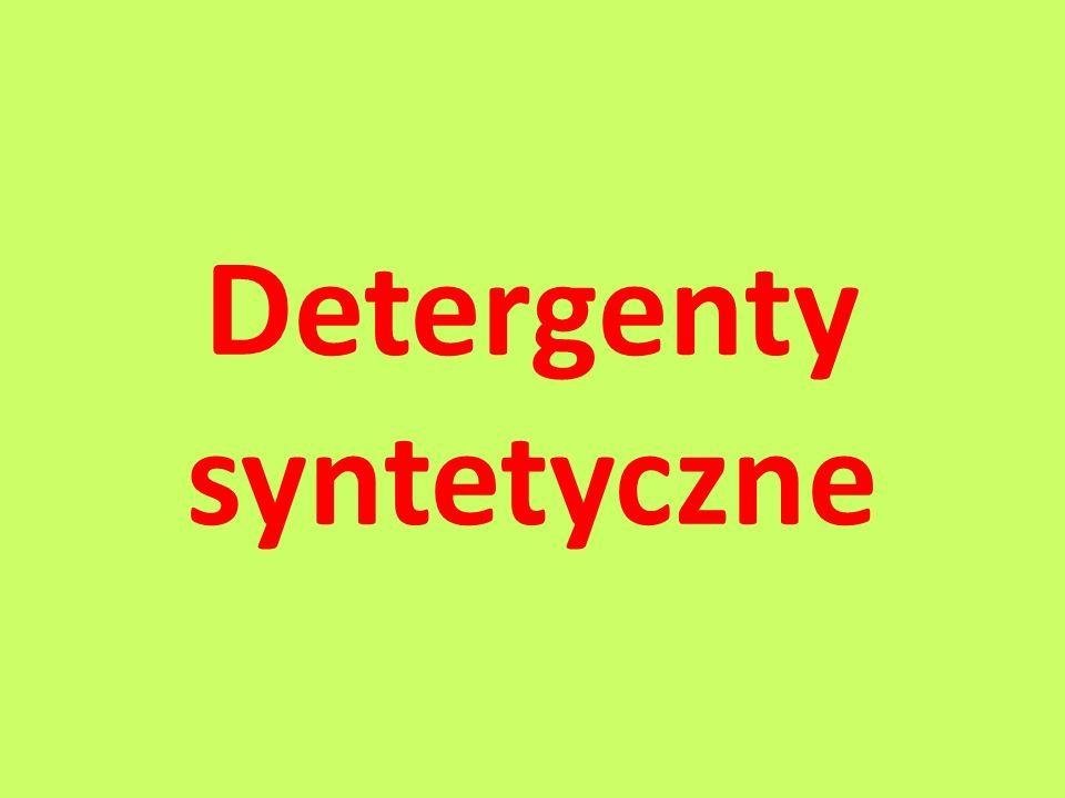 Detergenty syntetyczne