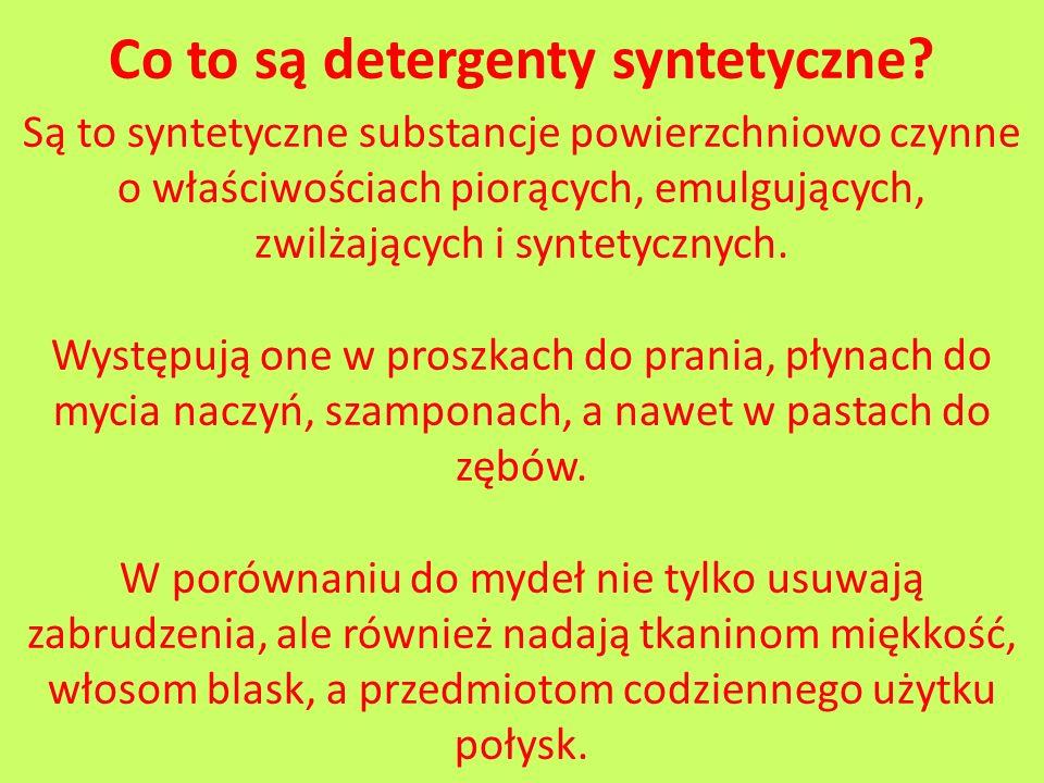 Co to są detergenty syntetyczne