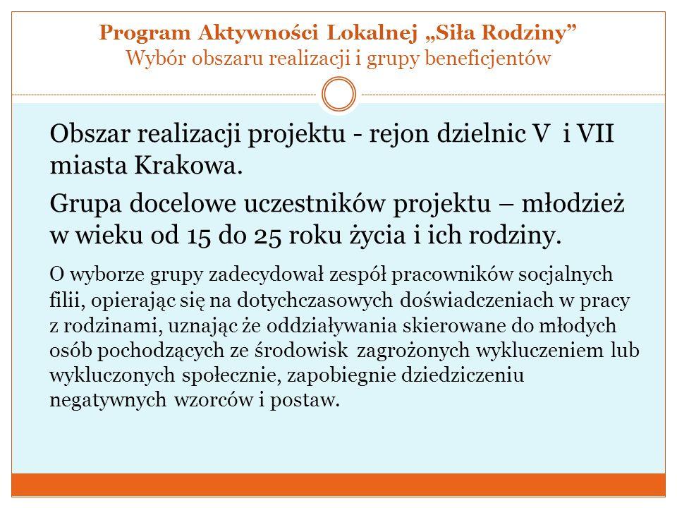 """Program Aktywności Lokalnej """"Siła Rodziny Wybór obszaru realizacji i grupy beneficjentów"""