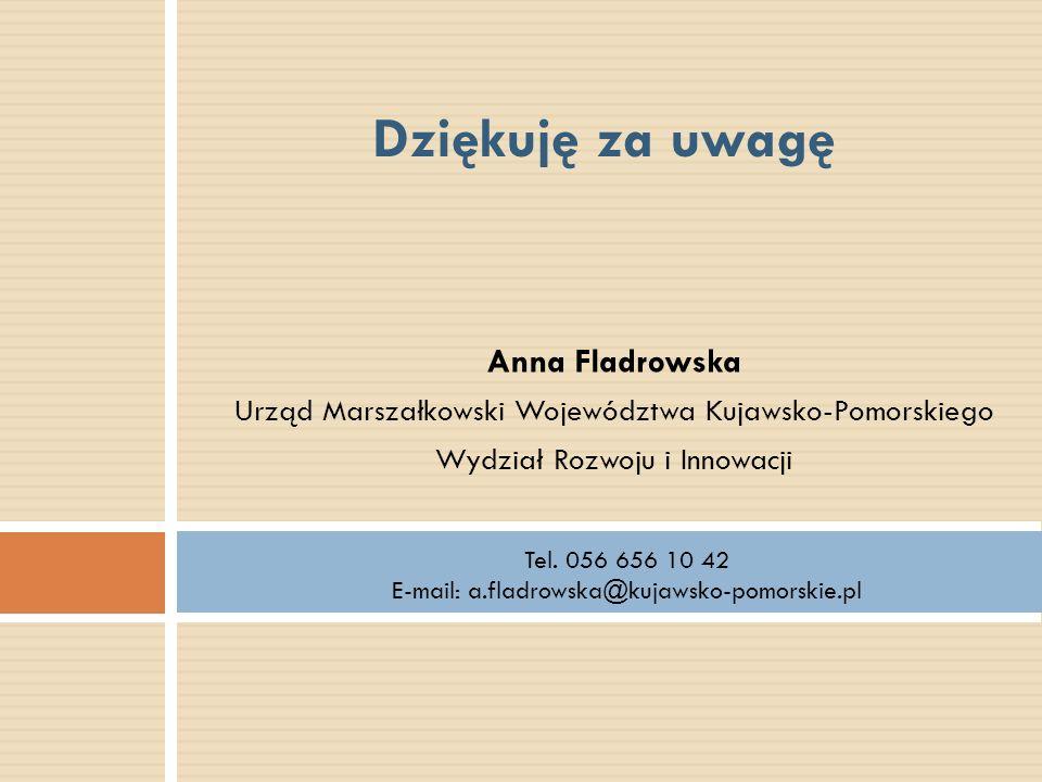 Dziękuję za uwagę Anna Fladrowska