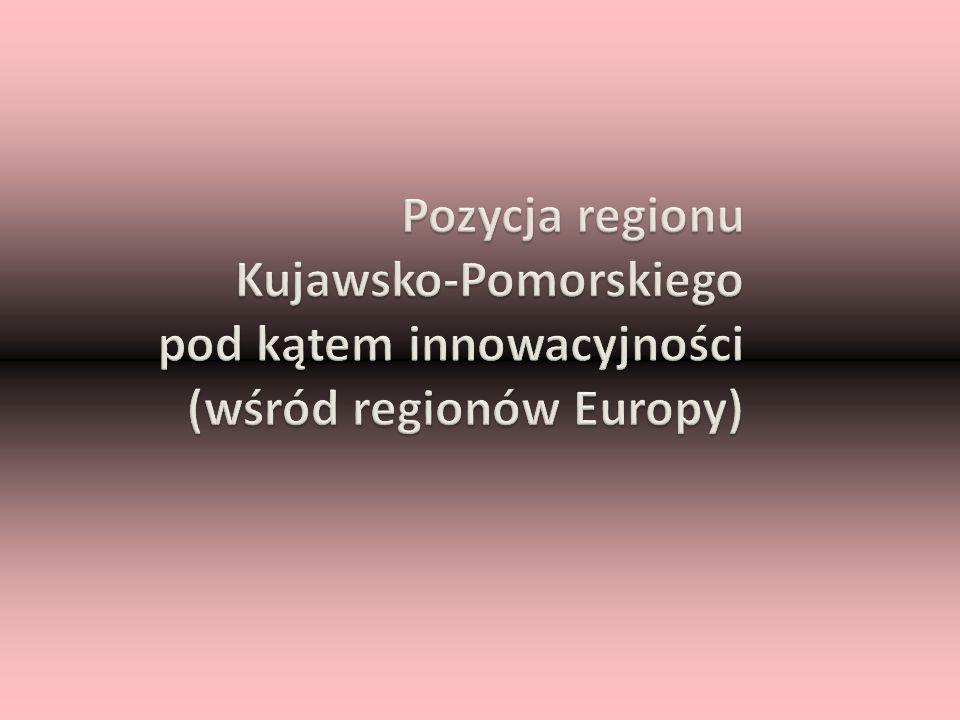 Pozycja regionu Kujawsko-Pomorskiego pod kątem innowacyjności (wśród regionów Europy)
