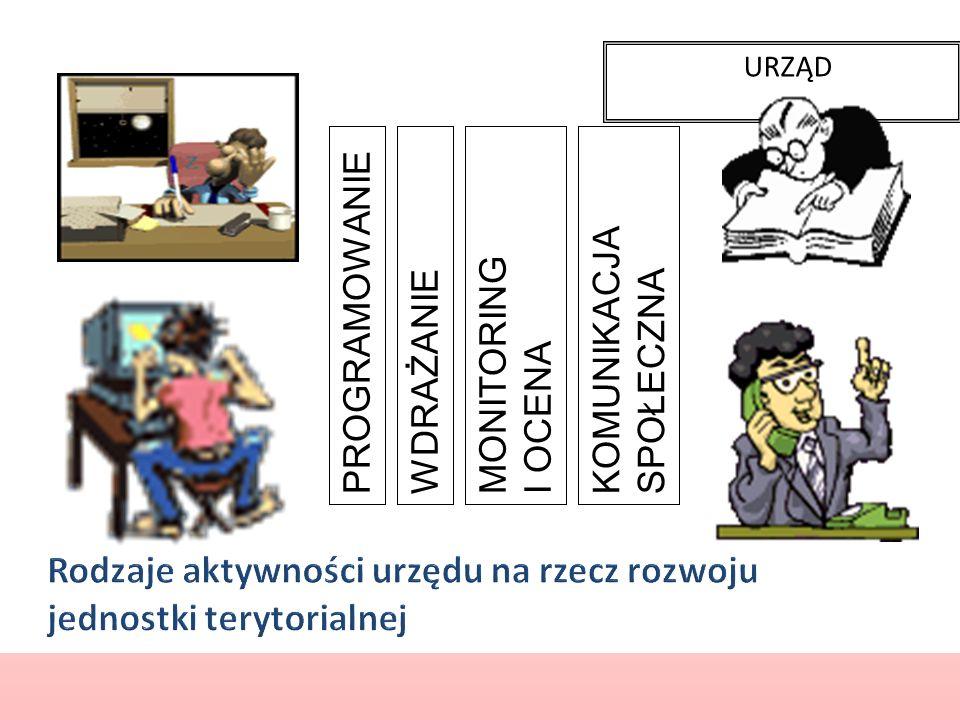 Rodzaje aktywności urzędu na rzecz rozwoju jednostki terytorialnej