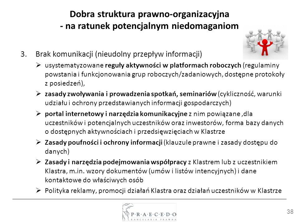 Dobra struktura prawno-organizacyjna - na ratunek potencjalnym niedomaganiom