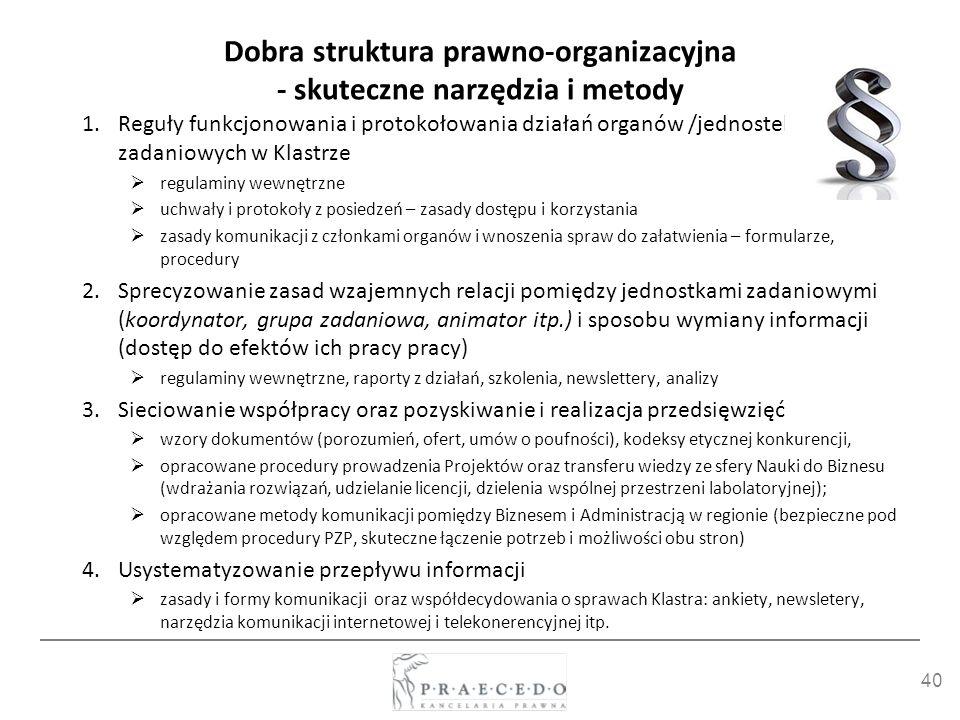 Dobra struktura prawno-organizacyjna - skuteczne narzędzia i metody