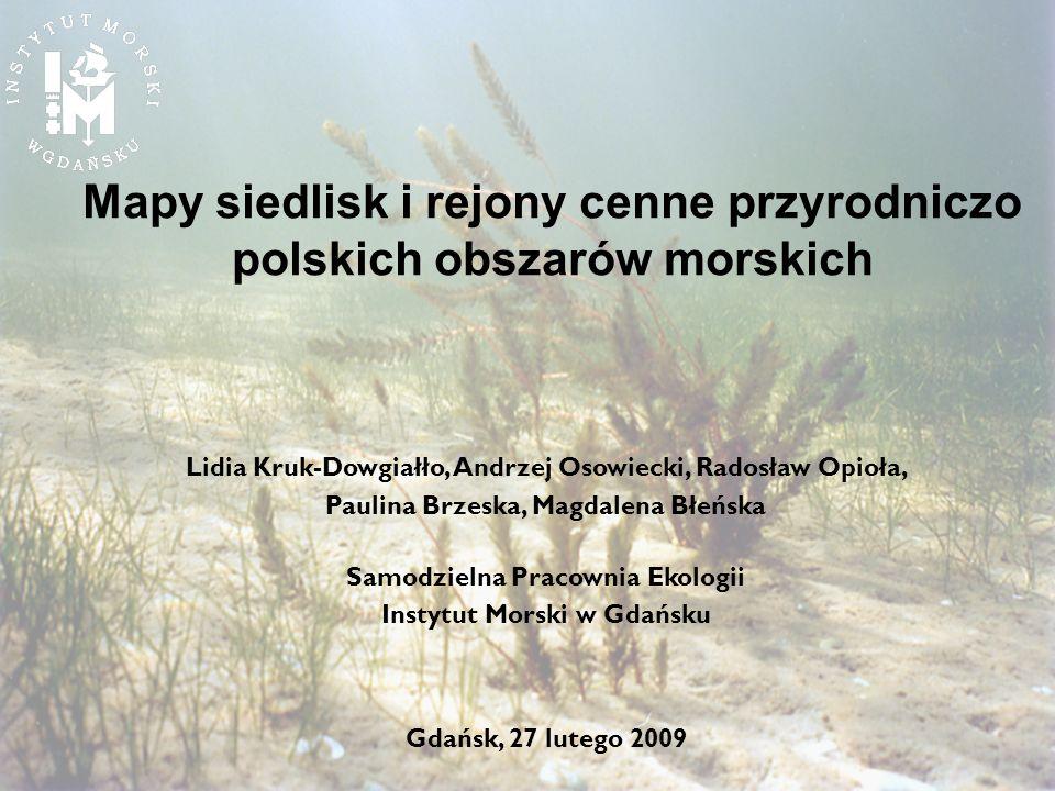 Mapy siedlisk i rejony cenne przyrodniczo polskich obszarów morskich