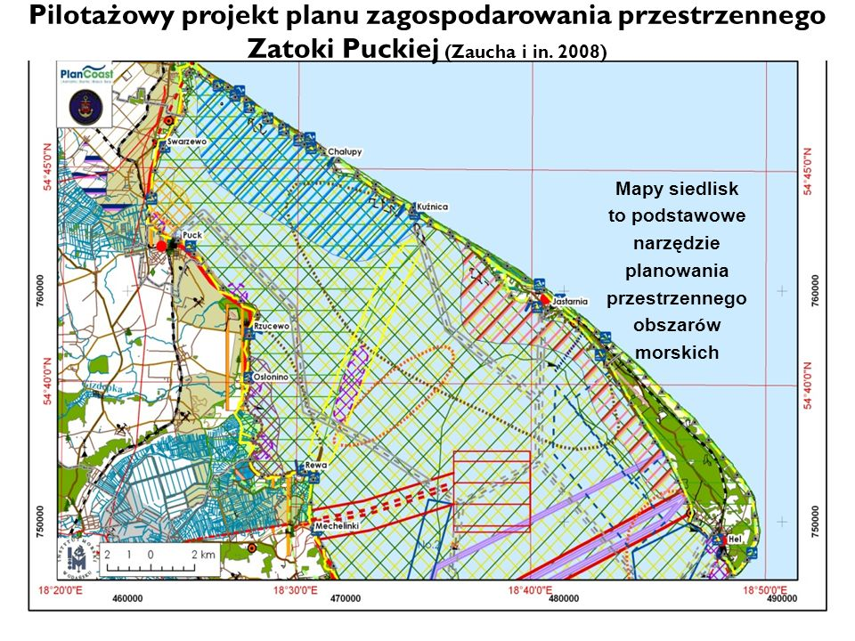Pilotażowy projekt planu zagospodarowania przestrzennego Zatoki Puckiej (Zaucha i in. 2008)