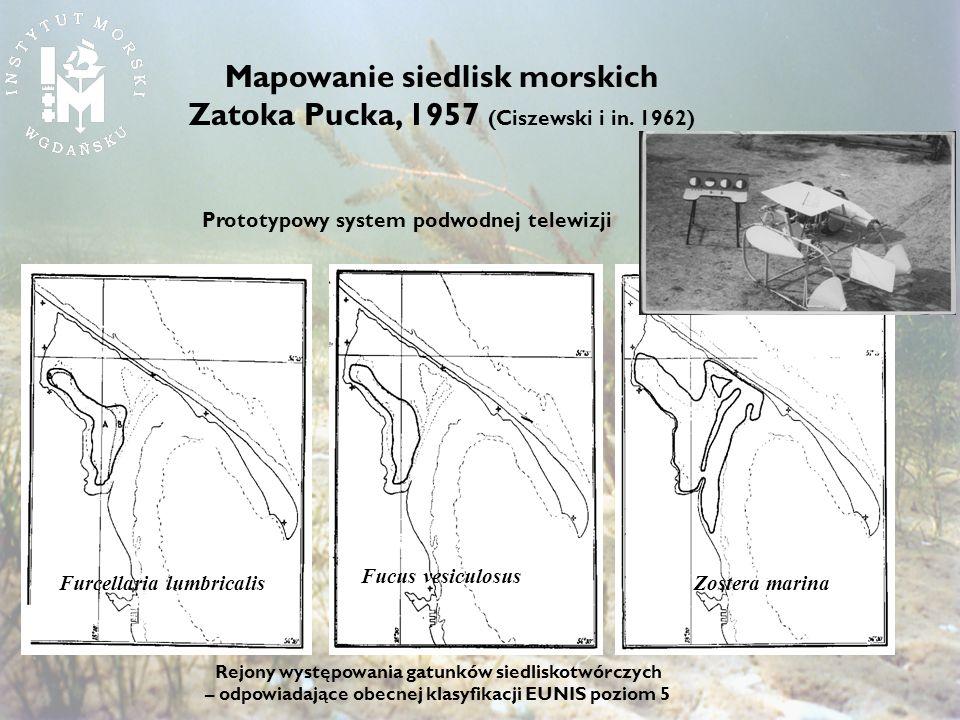 Mapowanie siedlisk morskich Zatoka Pucka, 1957 (Ciszewski i in. 1962)