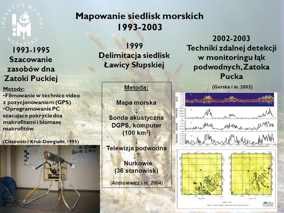 Mapowanie siedlisk morskich 1993-2003