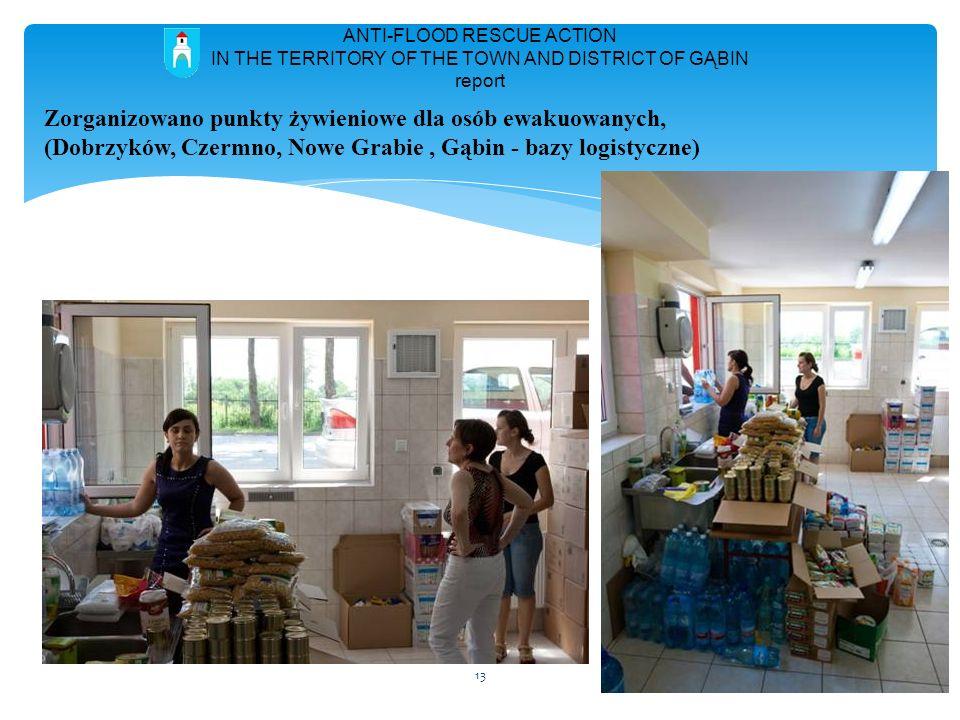 Zorganizowano punkty żywieniowe dla osób ewakuowanych,