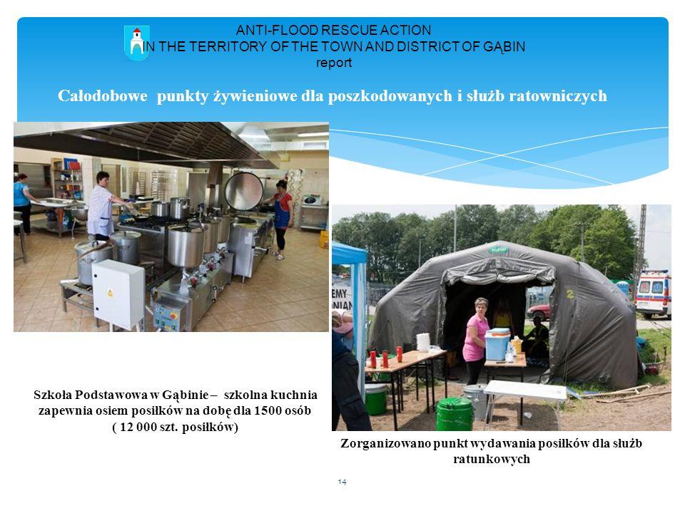 Całodobowe punkty żywieniowe dla poszkodowanych i służb ratowniczych