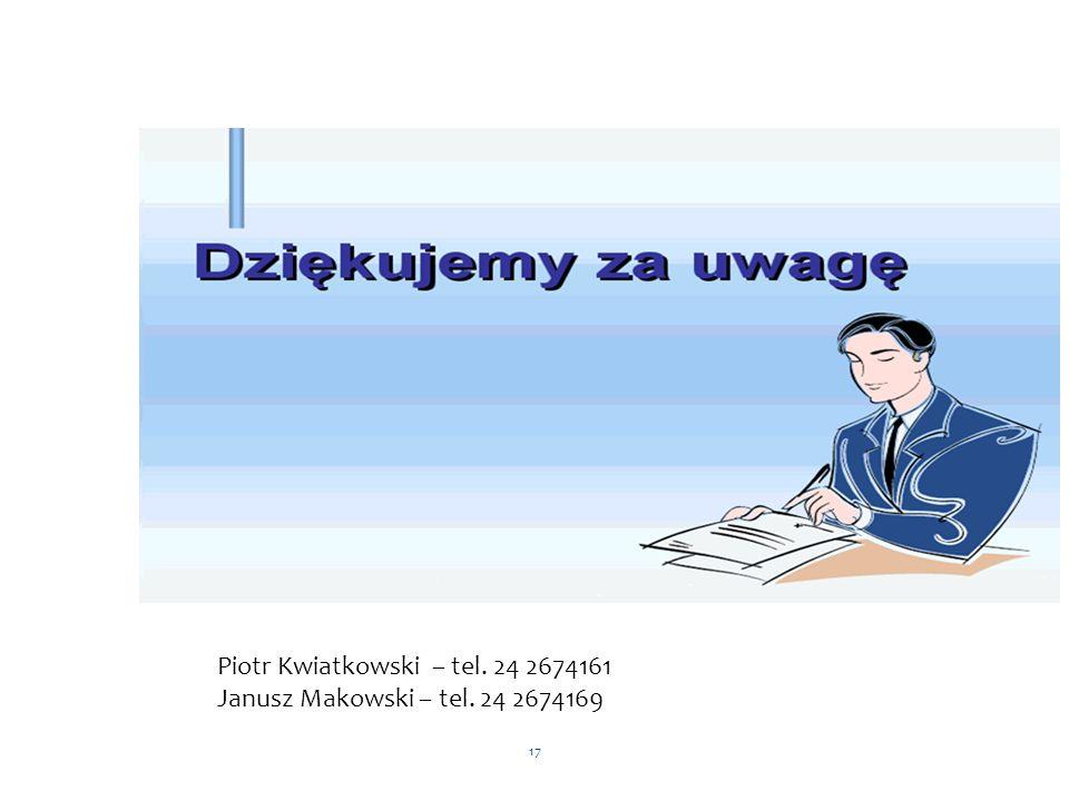 Piotr Kwiatkowski – tel. 24 2674161