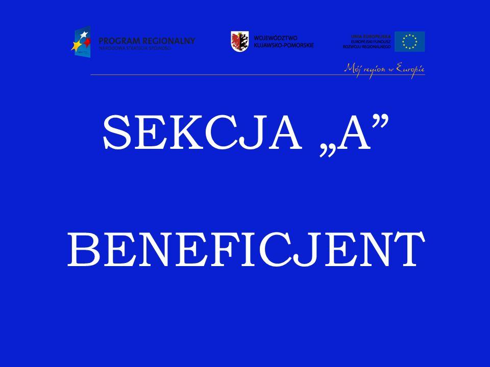 "SEKCJA ""A BENEFICJENT"