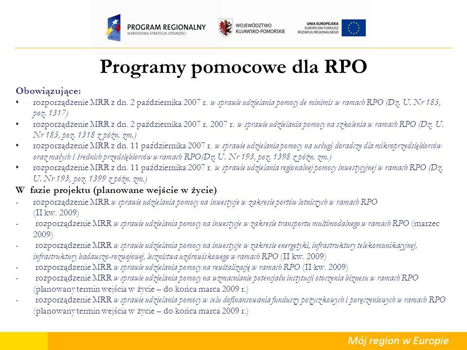 Programy pomocowe dla RPO