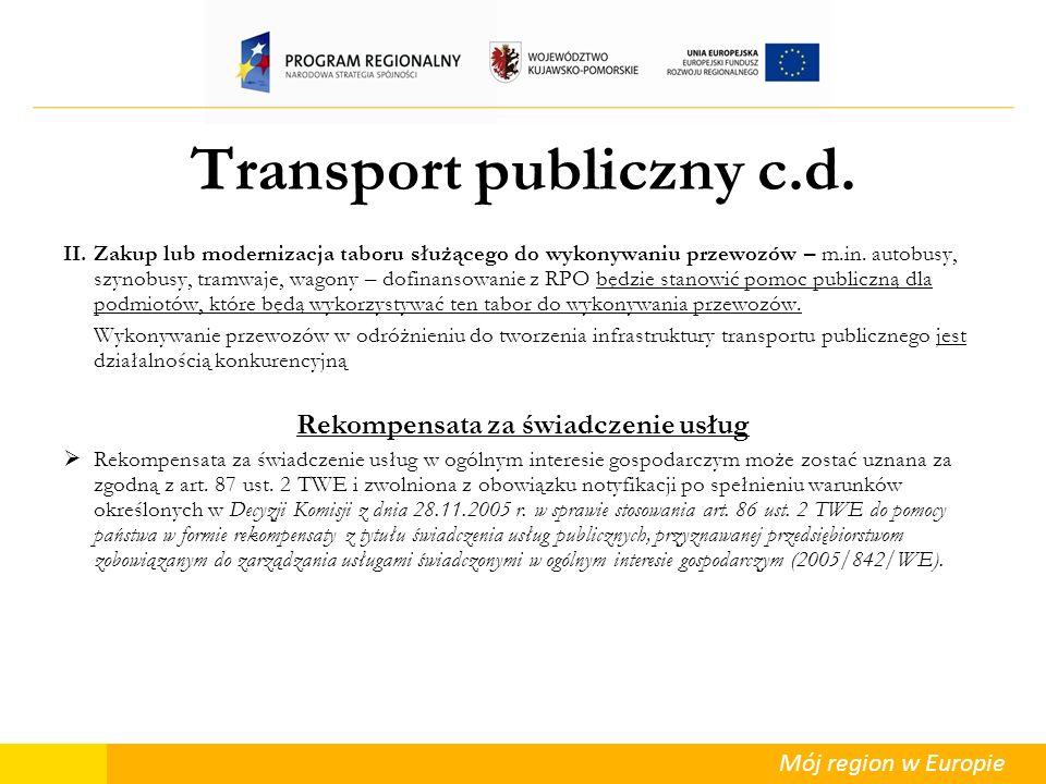 Transport publiczny c.d.