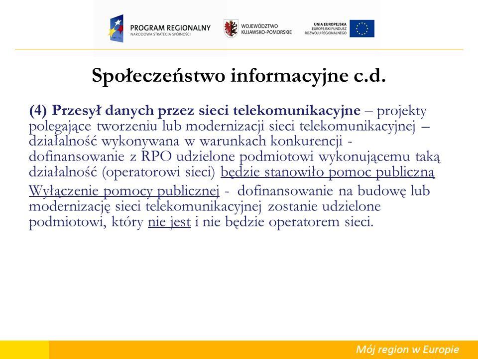 Społeczeństwo informacyjne c.d.