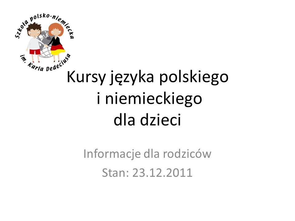 Kursy języka polskiego i niemieckiego dla dzieci
