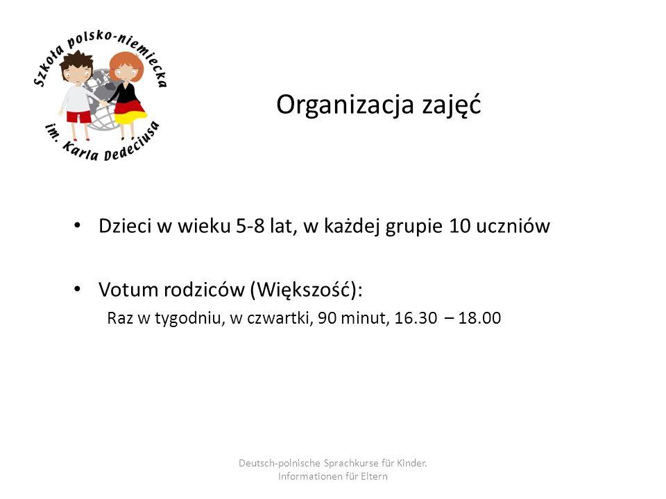 Deutsch-polnische Sprachkurse für Kinder. Informationen für Eltern