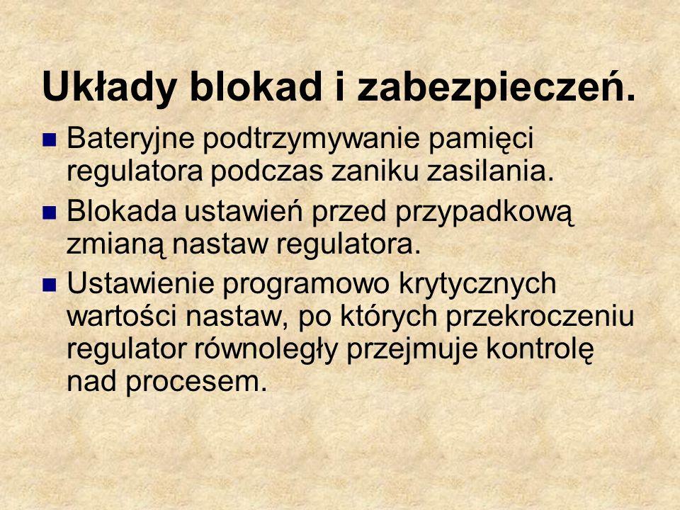 Układy blokad i zabezpieczeń.
